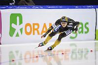SCHAATSEN: HEERENVEEN: IJsstadion Thialf, 18-11-2012, Essent ISU World Cup, Season 2012-2013, Men 2nd 500 meter Division A, winner Joji Kato (JPN), ©foto Martin de Jong