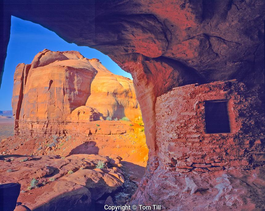 Morning Light at Hidden Ruin, Monument Valley Tribal Park, Arizona   Ancient Ancestral Puebloan ruin   Basketmaker Kayenta Culture