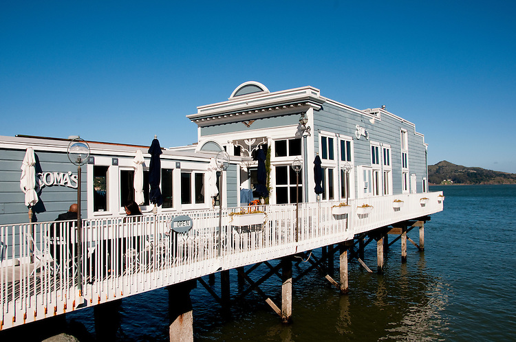 Sausalito, Scomas Restaurant; California, USA.  Photo copyright Lee Foster.  Photo # california108993