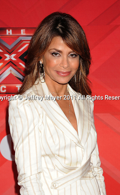 LOS ANGELES, CA - DECEMBER 19: Paula Abdul attends 'The X Factor' press conference at CBS Televison City on December 19, 2011 in Los Angeles, California.