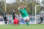 08.09.2018, pk-Sportpark, Cloppenburg, GER, FSP, SV Meppen vs Werder Bremen <br /> <br /> DFL REGULATIONS PROHIBIT ANY USE OF PHOTOGRAPHS AS IMAGE SEQUENCES AND/OR QUASI-VIDEO.<br /> <br /> im Bild / picture shows<br /> Caram Carneiro Alves (Werder Bremen U19 #53) &auml;rgert sich &uuml;ber vergebene Torchance, <br /> <br /> Foto &copy; nordphoto / Ewert