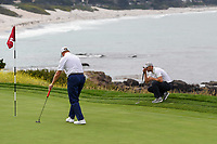 Martin Kaymer (GER) lines up his putt on 8 during round 1 of the 2019 US Open, Pebble Beach Golf Links, Monterrey, California, USA. 6/13/2019.<br /> Picture: Golffile | Ken Murray<br /> <br /> All photo usage must carry mandatory copyright credit (© Golffile | Ken Murray)