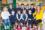 Coolick NS pupils who started school on Wednesday front l-r: Amanda Cronin class assistant, Dylan Dyas, Ailbhe Bellinger, Vida Broderick, Alex Kelly and Rachel Cronin teacher. back row: Faye Griffin, Aidan Huggard, Kieran Fleming, Derry O'Gorman and Jack O'Leary
