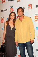 """LOS ANGELES - AUG 15:  Chris Browning, wife Chrissy at the """"Shot Caller"""" Premiere at The Theatre at Ace Hotel on August 15, 2017 in Los Angeles, CA"""