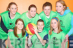 TEAM WORK: The Under 18s Ballybunion basketball team at the Shannonside Youth club tournament in the Ballybunion Community Centre on Friday evening. Front l-r: Heather Moran, Wayne Hayes and Michelle Rowan. Back l-r: Ciara Kennelly, Joanne Riordan, Ryan Walsh and Jo Jo O'Sullivan.   Copyright Kerry's Eye 2008