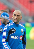20 October 2012: Montreal Impact forward Marco Di Vaio #9 in action during the warm-up in an MLS game between the Montreal Impact and Toronto FC at BMO Field in Toronto, Ontario..The game ended in a 0-0 draw..