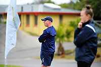 Central coach Simon Lees watches the National Women's League football match between Central and Auckland at the Memorial Park in Palmerston North, New Zealand on Sunday, 5 November 2017. Photo: Dave Lintott / lintottphoto.co.nz