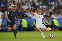 PARIS, FRANCE - JUNE 28: Kelley O'Hara #5 during a 2019 FIFA Women's World Cup France quarter-final match between France and the United States at Parc des Princes on June 28, 2019 in Paris, France.