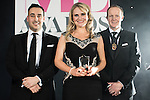 © Joel Goodman - 07973 332324 . 02/03/2017 . Manchester , UK . Solicitor of the Year , Jennifer Maloney of Slater and Gordon Lawyers . The Manchester Legal Awards at the Midland Hotel . Photo credit : Joel Goodman