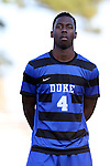 21 August 2015: Duke's Kevon Black (CAN). The Duke University Blue Devils hosted the University of North Carolina Charlotte 49ers at Koskinen Stadium in Durham, NC in a 2015 NCAA Division I Men's Soccer preseason exhibition. The game ended in a 1-1 tie.