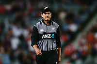Ross Taylor of New Zealand reacts. New Zealand Black Caps v Australia, Final of Trans-Tasman Twenty20 Tri-Series cricket. Eden Park, Auckland, New Zealand. Wednesday 21 February 2018. © Copyright Photo: Anthony Au-Yeung / www.photosport.nz