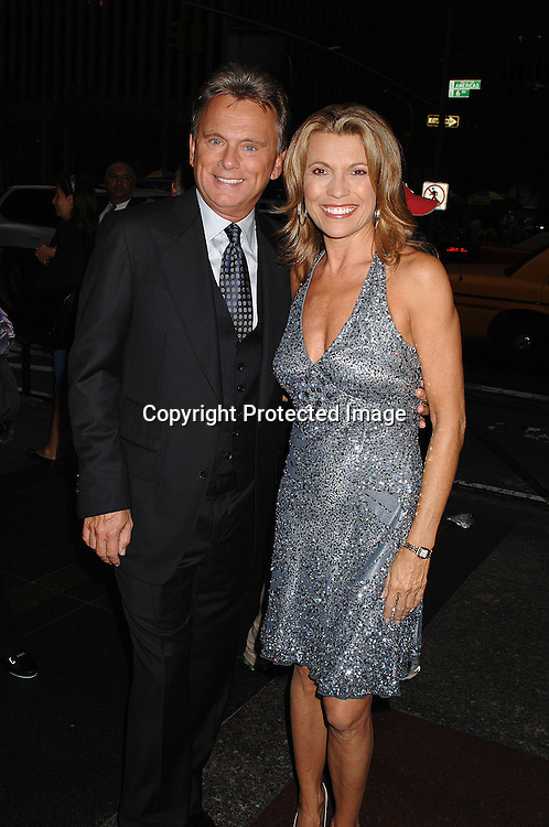 "Pat Sajak and Vanna White..at The 25th Anniversary party for ""Wheel of Fortune"" ..on September 27, 2007 at Radio City Music Hall, where they will tape 3  weeks of shows.....photo by Robin Platzer, Twin Images....212-935-0770"