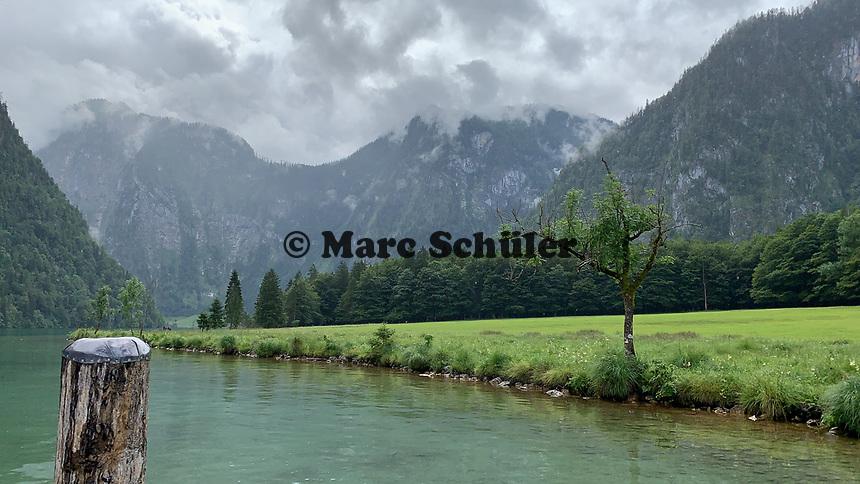 Blick auf den Königssee - Berchtesgaden 16.07.2019: Königssee