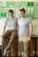 Hungry Leaf  owners Bayard Collins and Peter Goodwin (BOTH CQ) in DURHAM, N.C. on Friday, March 14, 2014. (Justin Cook)