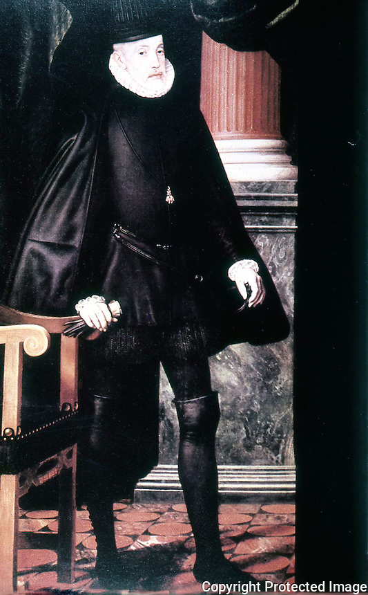 Visual Arts:  Philip II of Spain in old age. Juan Pantoja de La Cruz,  El Escorial.
