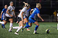 Allston, MA - Saturday Sept. 24, 2016: Alanna Kennedy, Natasha Dowie during a regular season National Women's Soccer League (NWSL) match between the Boston Breakers and the Western New York Flash at Jordan Field.