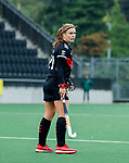 AMSTELVEEN - Michelle Fillet (Adam)    tijdens de hoofdklasse hockeywedstrijd dames,  Amsterdam-Den Bosch (1-1).   COPYRIGHT KOEN SUYK