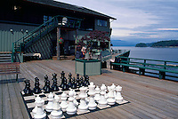 Quadra Island, Northern Gulf Islands, BC, British Columbia, Canada - Outdoor Chess Board Game