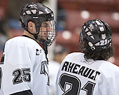 Pierce Norton, Jon Rheault - The Boston College Eagles defeated the Providence College Friars 4-1 on Saturday, January 7, 2006, at Schneider Arena in Providence, Rhode Island.