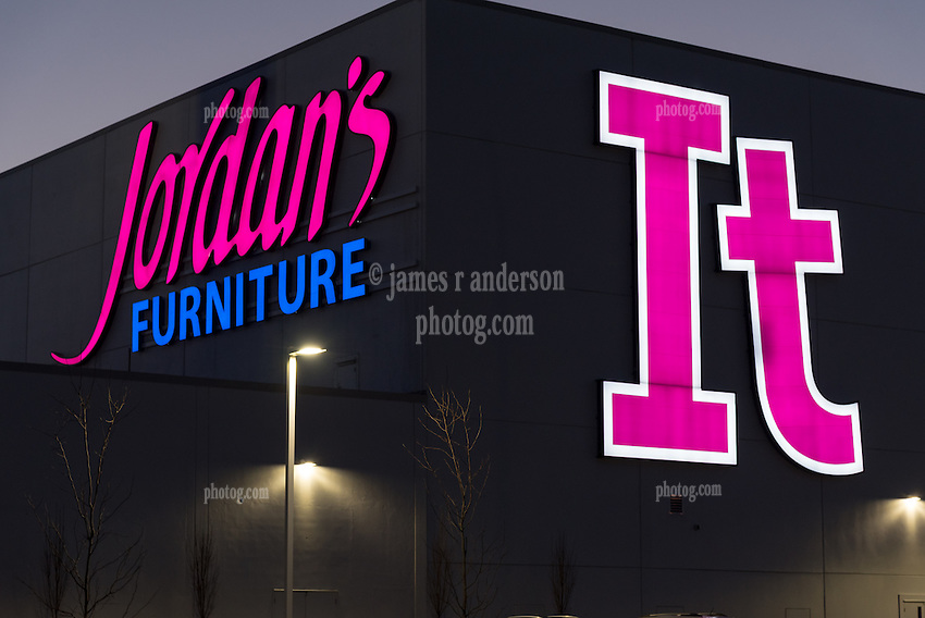 Jordan S Furniture New Haven Ct It Area Signs At Dusk James R