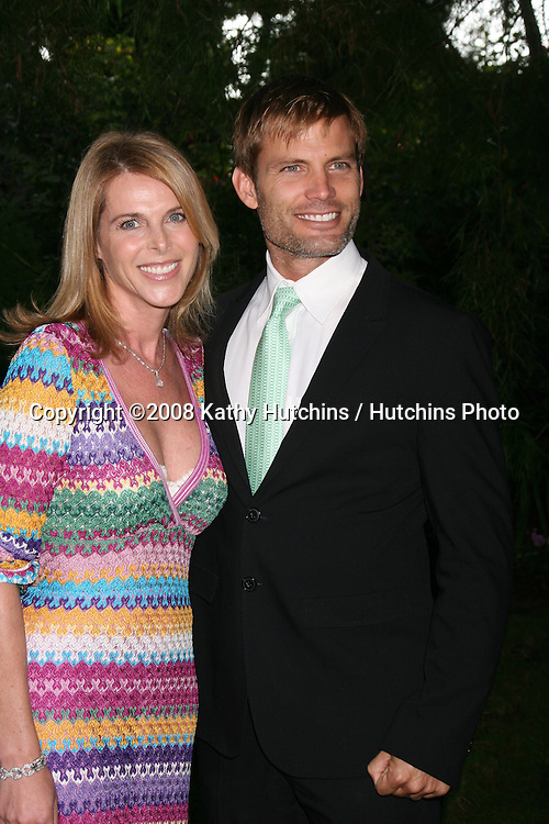 "Catherine Oxenberg & Casper Van Dien arriving at the ""YES! on Prop 2 Campaign"" to stop Animal Cruelty.at a private estate in .BelAir, CA on.September 28, 2008.©2008 Kathy Hutchins / Hutchins Photo...."