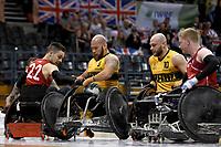 Ryley Batt (AUS) vs GB<br /> Australian Wheelchair Rugby Team<br /> 2018 IWRF WheelChair Rugby <br /> World Championship / Semi Finals<br /> Sydney  NSW Australia<br /> Thursday 9th August 2018<br /> © Sport the library / Jeff Crow / APC
