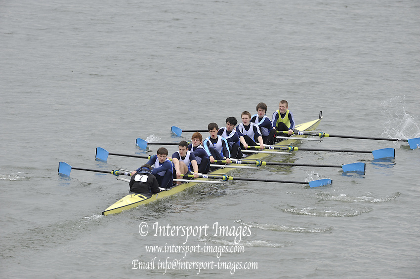 Chiswick. Great Britain,  Championships Eights, Lytymer Upper,  approach the start of the 2010 Schools Head of the River Race. Chiswick to Putney on the Championship Course, River Thames, London,  Thursday   11/03/2010 [Mandatory Credit. Peter Spurrier/Intersport Images]