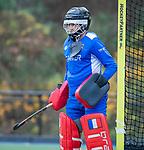 ZEIST-  keeper Corentin Saunier (Schaerweijde)  promotieklasse hockey heren, Schaerweijde-Hurley (4-0)  COPYRIGHT KOEN SUYK