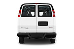 Straight rear view of 2018 GMC Savana-Cargo Work-Van-2500 4 Door Cargo Van Rear View  stock images