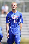 04 September 2011: SMU's Zach Barnes. The Southern Methodist University Mustangs defeated the Duke University Blue Devils 1-0 in overtime at Koskinen Stadium in Durham, North Carolina in an NCAA Division I Men's Soccer game.