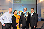 IHF-REPRO FREE IHF Conference Killarney: .Adrian Webster, motivator, Sarah mathews, Tripadvisor, Michael Vaughan, President, IHF and Markus Luthe, CEO, German Hotels Federation pictured at the IHF 75th anniversary conference in The Malton Hotel, Killarney on Tuesday..Picture by Don MacMonagle
