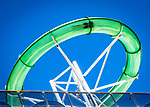 Green thunder water-slide on Carnival Cruise Line while berthed at Sydneys Overseas Passenger Terminal.