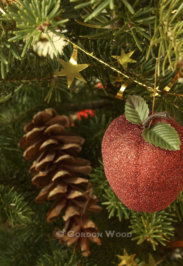 Christmas Ornament on Spruce Tree