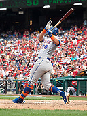 New York Mets third baseman J.D. Davis (28) singles to drive in two runs in the eighth inning against the Washington Nationals at Nationals Park in Washington, DC on March 30, 2018.  The Mets won the game 11-8.<br /> Credit: Ron Sachs / CNP<br /> (RESTRICTION: NO New York or New Jersey Newspapers or newspapers within a 75 mile radius of New York City)