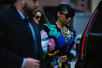 Nicki Minaj attends Day 4 of New York Fashion Week on Feb 16, 2015 (Photo by Hunter Abrams/Guest of a Guest)