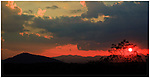 Peek-a-boo sunset over the Smoky Mountains