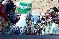 Dario Cataldo comes to the finish winner of the stage of La Vuelta 2012 between Gijon and Valgrande-Pajares (Cuitu Negru).September 3,2012. (ALTERPHOTOS/Acero) /NortePhoto.com<br /> <br /> **CREDITO*OBLIGATORIO** <br /> *No*Venta*A*Terceros*<br /> *No*Sale*So*third*<br /> *** No*Se*Permite*Hacer*Archivo**<br /> *No*Sale*So*third*
