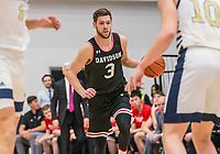 WASHINGTON, DC - JANUARY 29: Jin Axel Gudmundsson #3 of Davidson dribbles up court during a game between Davidson and George Wshington at Charles E Smith Center on January 29, 2020 in Washington, DC.