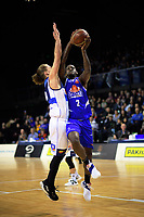 LJ Peak in action during the national basketball league match between Wellington Saints and Nelson Giants at TSB Bank Arena in Wellington, New Zealand on Thursday, 26 July 2018. Photo: Dave Lintott / lintottphoto.co.nz