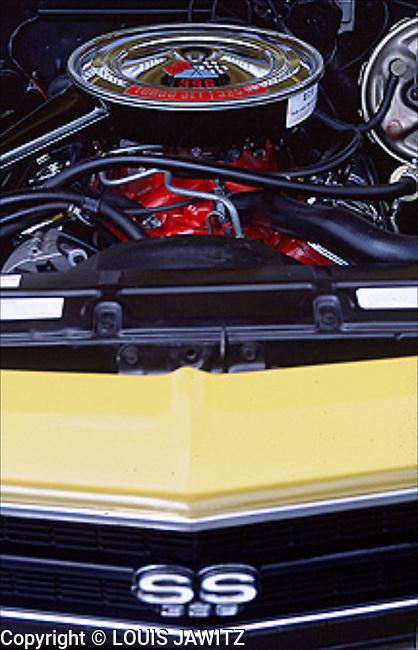 chevy ss super sport 396 cube engine chrome air intake Chevrolet