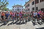 The peloton lined up for the start of Stage 20 of the 2019 Giro d'Italia, running 194km from Feltre to Croce d'Aune-Monte Avena, Italy. 1st June 2019<br /> Picture: Gian Mattia D'Alberto/LaPresse | Cyclefile<br /> <br /> All photos usage must carry mandatory copyright credit (© Cyclefile | Gian Mattia D'Alberto/LaPresse)