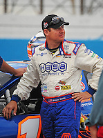Apr 16, 2009; Avondale, AZ, USA; NASCAR Camping World Series West driver Moses Smith prior to the Jimmie Johnson Foundation 150 at Phoenix International Raceway. Mandatory Credit: Mark J. Rebilas-