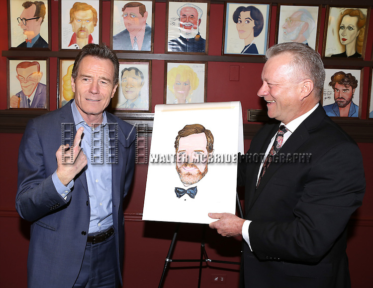 Bryan Cranston and Max Klimavicius attend the Sardi's Caricature Unveiling for Bryan Cranston on May 29, 2014 in New York City