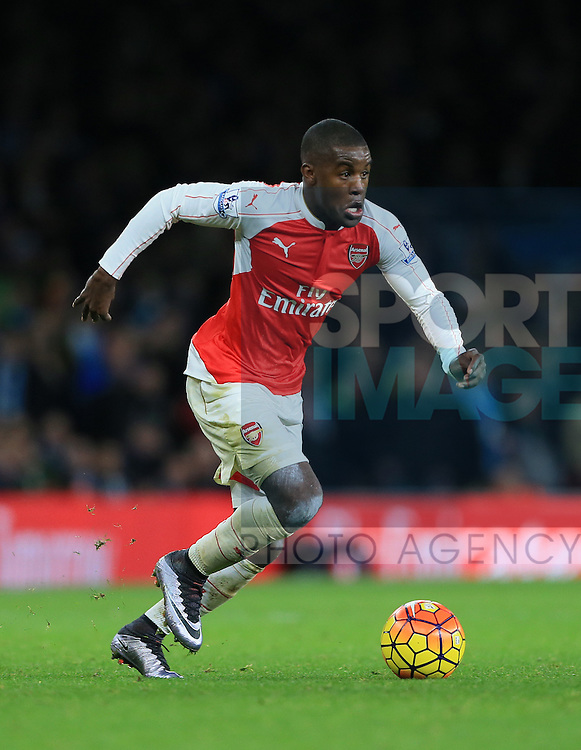 Arsenal's Joel Campbell in action<br /> <br /> Barclays Premier League- Arsenal vs Manchester City - Emirates Stadium - England - 21st December 2015 - Picture David Klein/Sportimage