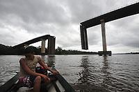 Ponte do Mojú desaba após acidente com balsa.<br /> Foto Mauro ângelo<br /> 2014