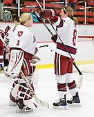 Laura Bellamy (Harvard - 1), Kathryn Farni (Harvard - 8) - The Harvard University Crimson defeated the Northeastern University Huskies 1-0 to win the 2010 Beanpot on Tuesday, February 9, 2010, at the Bright Hockey Center in Cambridge, Massachusetts.