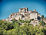 A hill-top city in Italy near the Lazio-Umbra border.