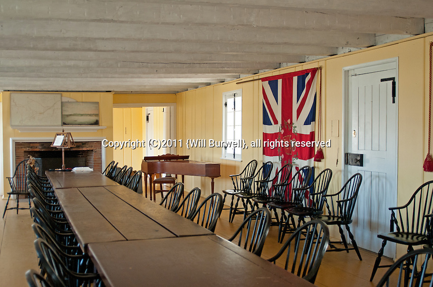 Dining room officers mess, Fort George, Niagara-on-the-Lake