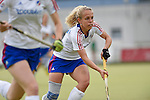 Ruesselsheim, Germany, May 16: During the 1. Bundesliga Damen match between Russelsheimer RK (dark blue) and Mannheimer HC (white) on May 16, 2015 at Ruesselsheimer RK in Ruesselsheim, Germany. Final score 1-6 (1-4). (Photo by Dirk Markgraf / www.265-images.com) *** Local caption *** Lydia Haase #12 of Mannheimer HC