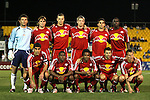 31 March 2007: New York's starters pose for a team photo. Front row (from left): Claudio Reyna, Marvelle Wynne, Dane Richards, Dema Kovalenko, Seth Stammler. Back row (from left): Ronald Wattereus, Todd Dunivant, Dave van den Bergh, John Wolyniec, Carlos Mendes, Jozy Altidore.  Major League Soccer's Houston Dynamo defeated the New York Red Bulls 2-1 in a preseason game at Blackbaud Stadium on Daniel Island in Charleston, SC, as part of the Carolina Challenge Cup.